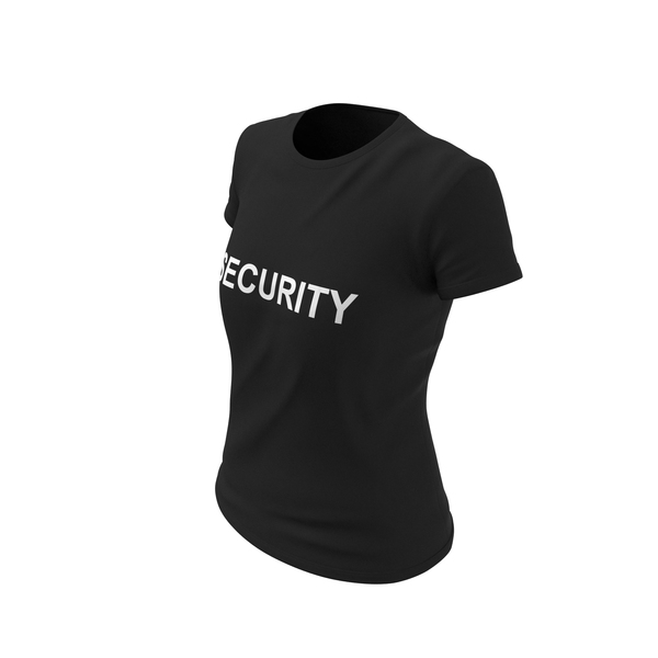 T Shirt: Female Crew Neck Worn Security PNG & PSD Images
