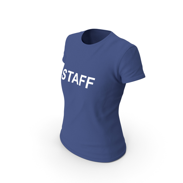 T Shirt: Female Crew Neck Worn Staff PNG & PSD Images