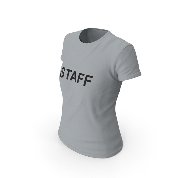 T Shirt: Female Crew Neck  Worn PNG & PSD Images