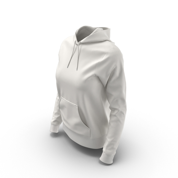 Female Fitted Hoodie Worn PNG & PSD Images