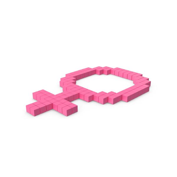 Symbol: Female Gender Icon Pink PNG & PSD Images