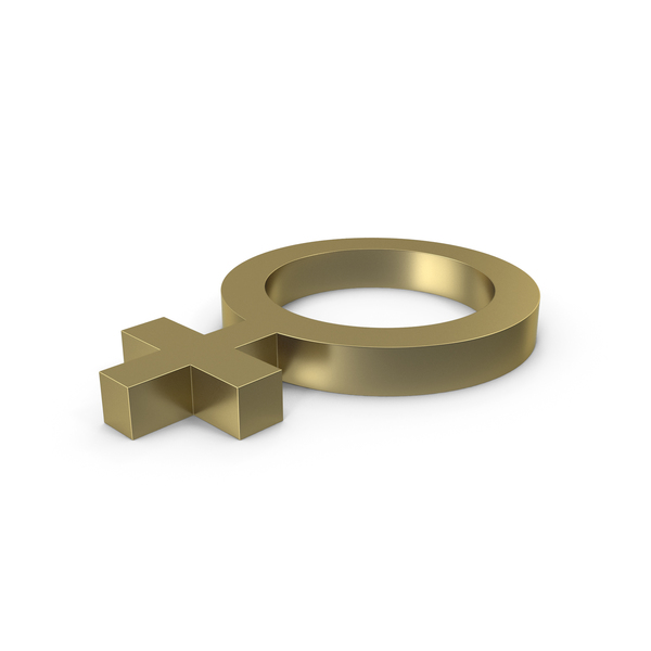Female Gender Symbol Side Gold PNG & PSD Images