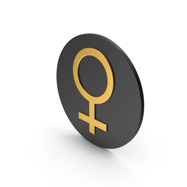 Symbol: Female Gold Icon PNG & PSD Images