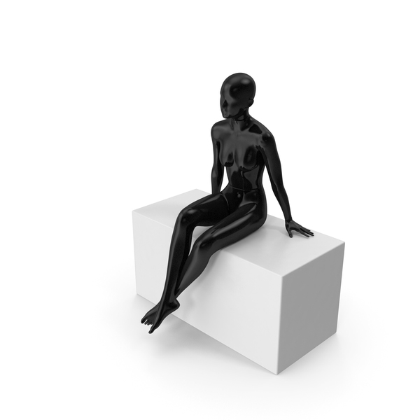 Female Mannequin Black PNG & PSD Images