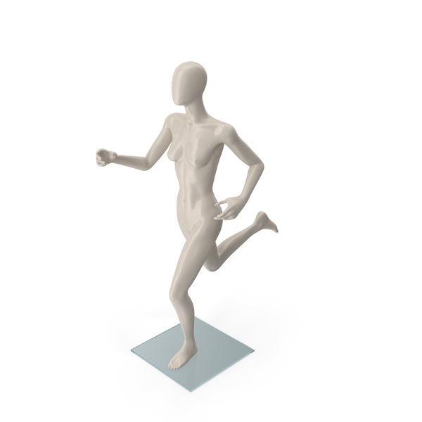 Female Mannequin Running Pose PNG & PSD Images