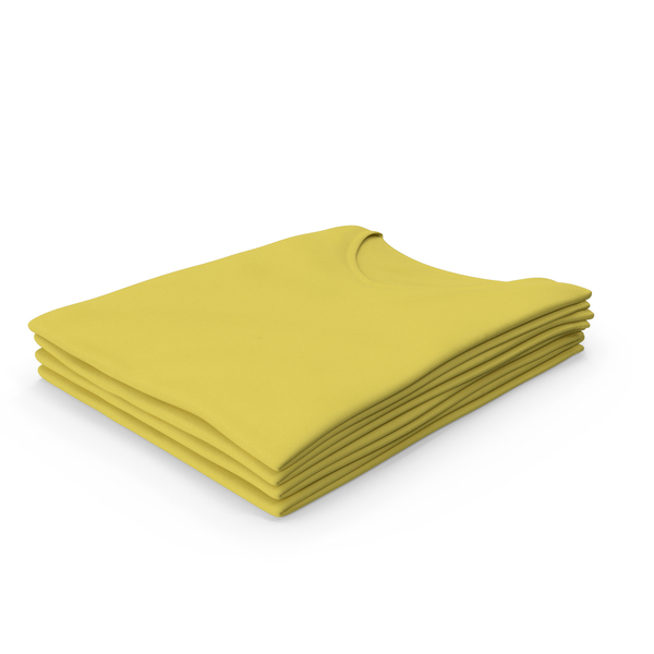 T Shirt: Female V Neck Folded Stacked Yellow PNG & PSD Images
