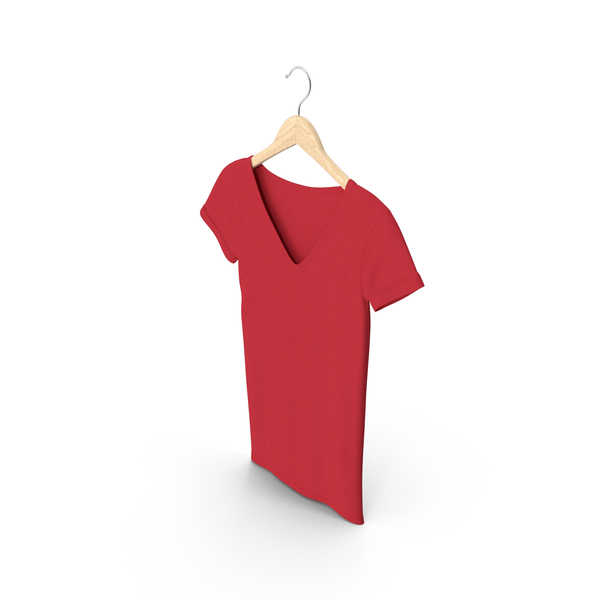 Tank Top: Female V Neck Hanging Red PNG & PSD Images