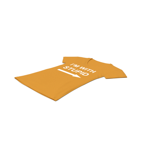 T Shirt: Female V Neck Laying Orange Im With Stupid PNG & PSD Images