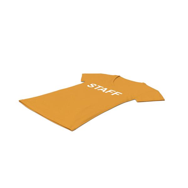 T Shirt: Female V Neck Laying Orange Staff PNG & PSD Images
