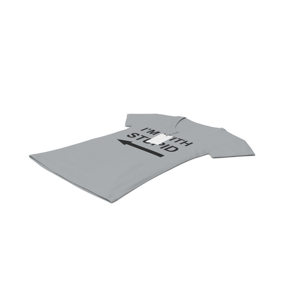 T Shirt: Female V Neck Laying With Tag Gray Im With Stupid PNG & PSD Images