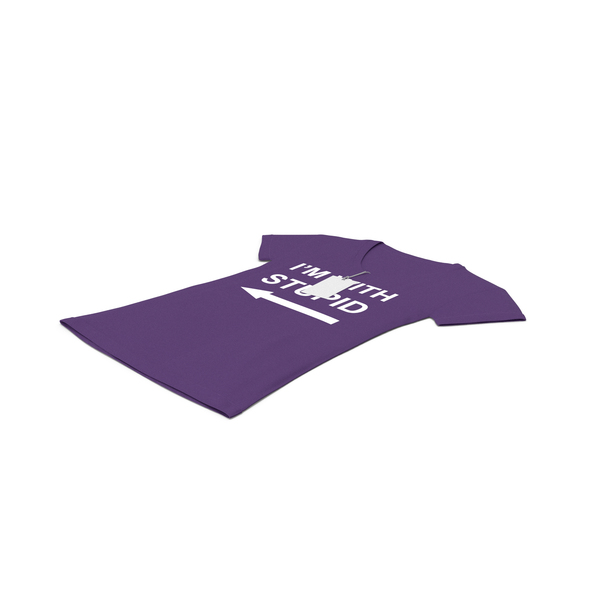 T Shirt: Female V Neck Laying With Tag Purple Im With Stupid PNG & PSD Images
