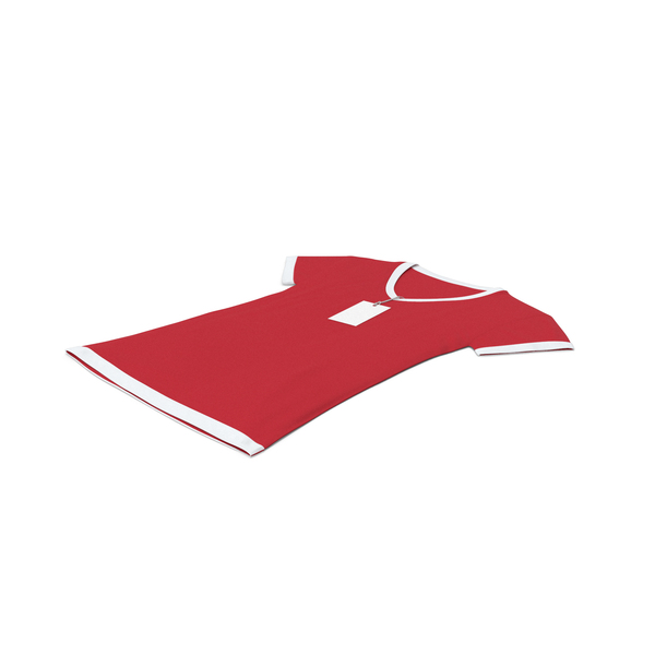 T Shirt: Female V Neck Laying With Tag White And Red PNG & PSD Images