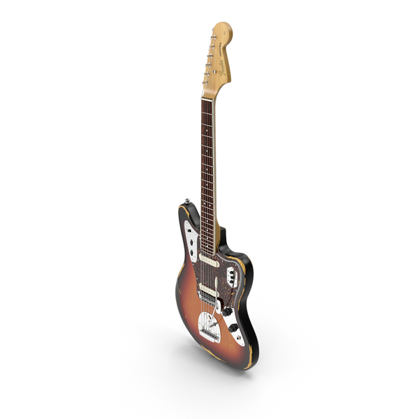 Fender Jaguar Sunburst PNG & PSD Images