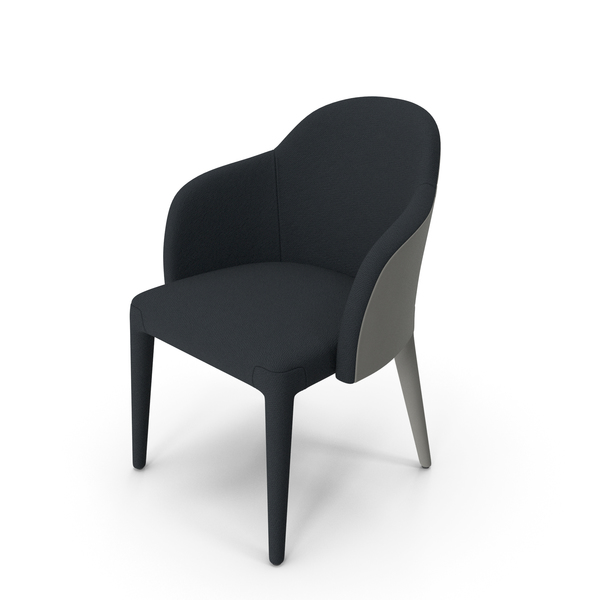 Fendi Audrey Chair Grey and Black PNG & PSD Images