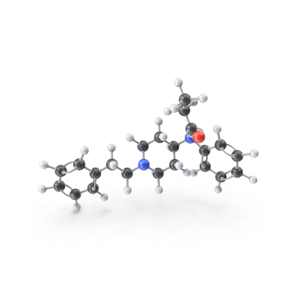 Fentanyl Molecule PNG & PSD Images
