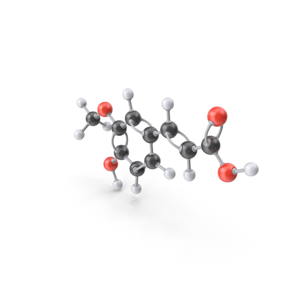 Ferulic Acid Molecule PNG & PSD Images