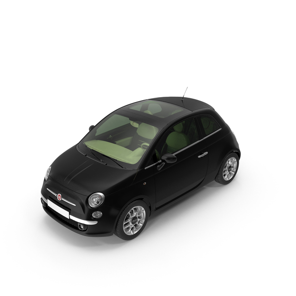 Coupe: Fiat 500 Black PNG & PSD Images