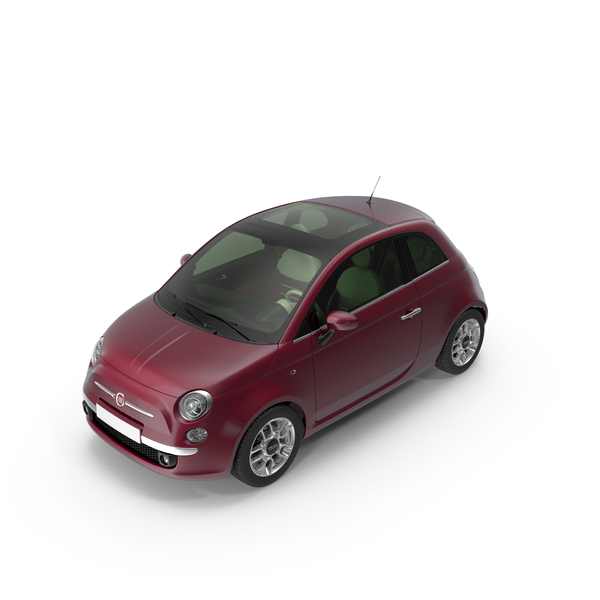 Fiat 500 Bordeaux PNG & PSD Images