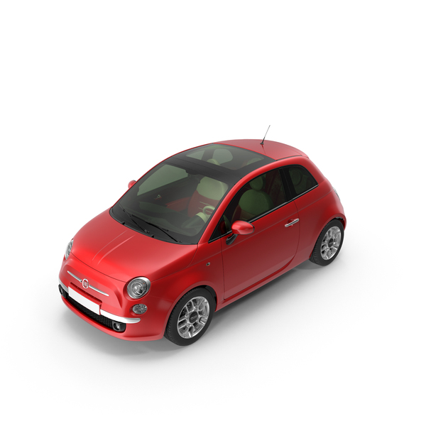 Coupe: Fiat 500 Red PNG & PSD Images