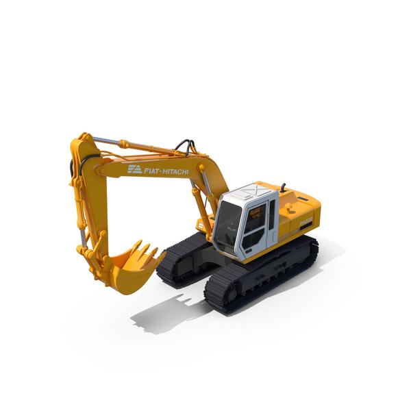 Fiat Hitachi FH200 Excavator PNG & PSD Images