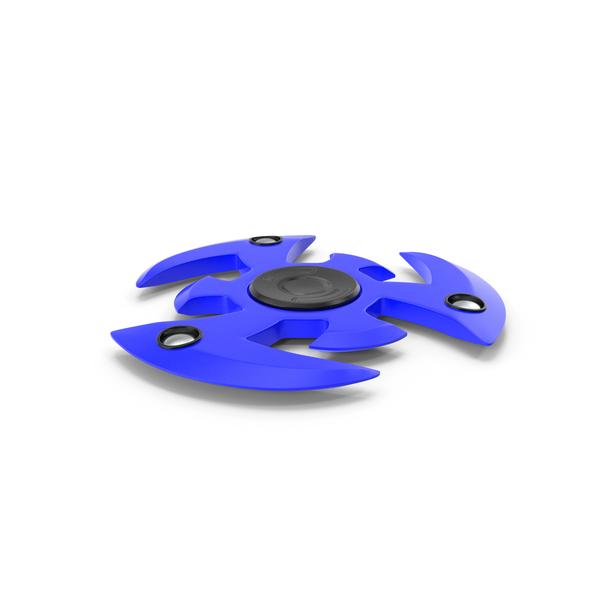 Fidget Spinner Blue New PNG & PSD Images