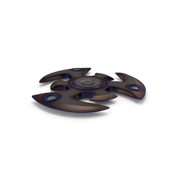 Fidget Spinner Burn Metal PNG & PSD Images