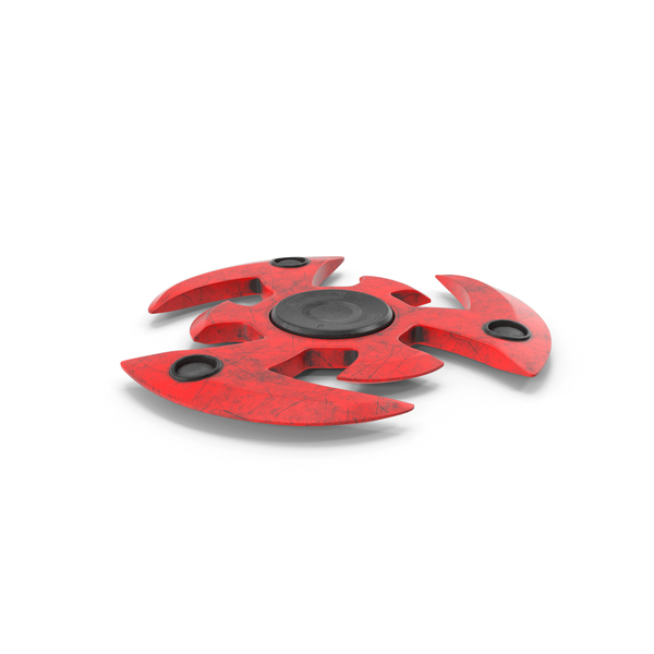 Fidget Spinner Red Dirty PNG & PSD Images