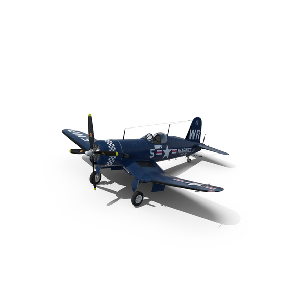 Fighter F4U Corsair US Marine Corps Object