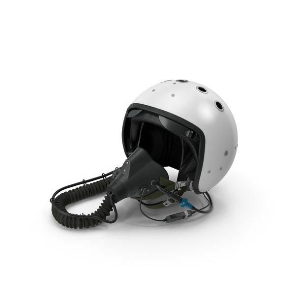 Fighter Jet Pilot Helmet Object