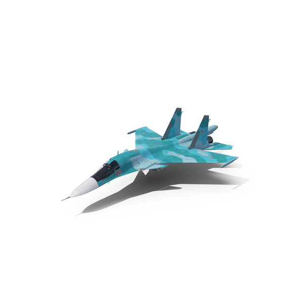 Plane: Fighter Sukhoi Su-34 PNG & PSD Images