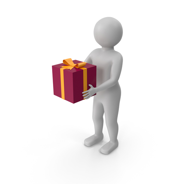 Figure Presenting Gift PNG & PSD Images