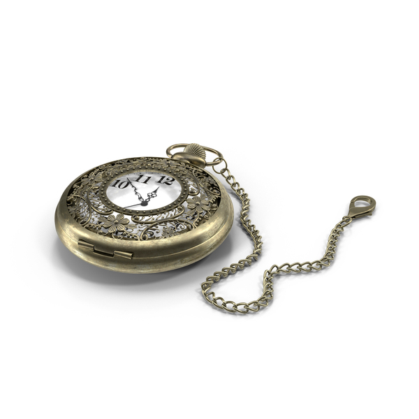 Filigree Pocket Watch PNG & PSD Images