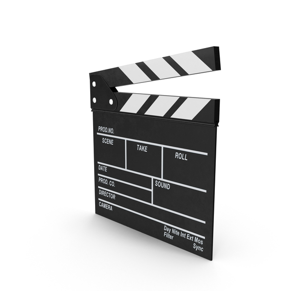 Clapperboard: Film Clapboard Object