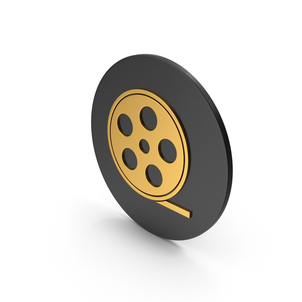 Reel: Film Roll Gold Icon PNG & PSD Images