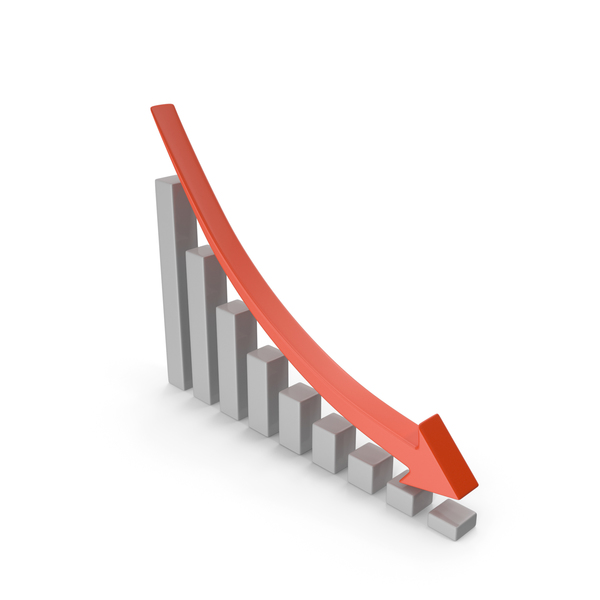 Financial Market Decline Chart PNG & PSD Images