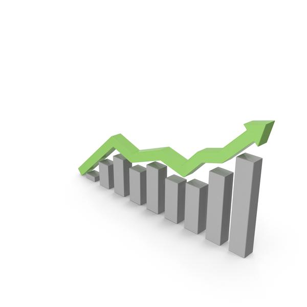 Bar Graph: Financial Market Growth Chart PNG & PSD Images