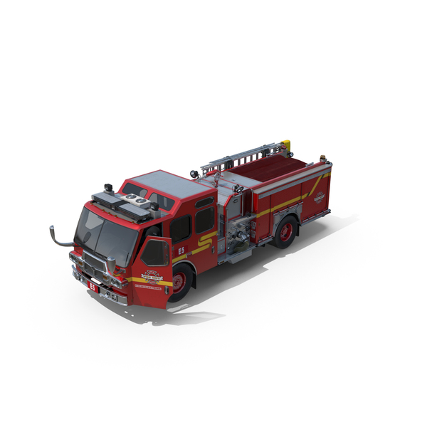 Engine: Fire Apparatus E-One Quest Seattle PNG & PSD Images