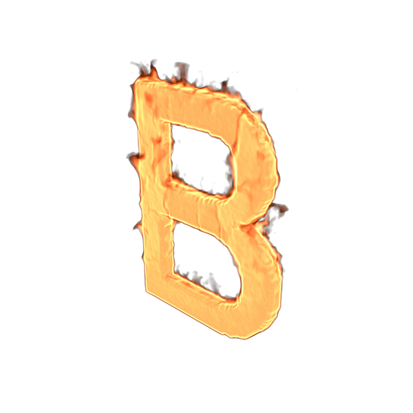 Fire Letter B PNG & PSD Images