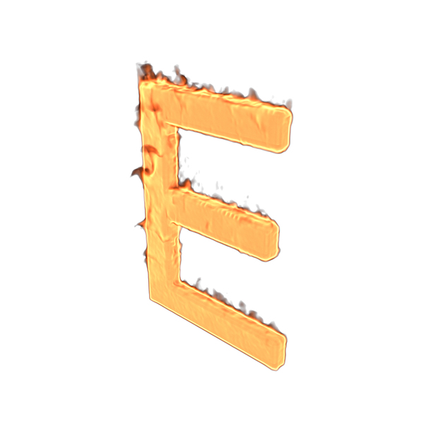 Fire Letter E PNG & PSD Images