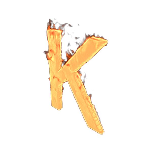 Language: Fire Letter K PNG & PSD Images
