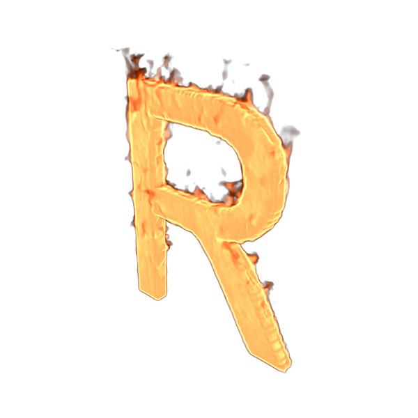 Language: Fire Letter R PNG & PSD Images
