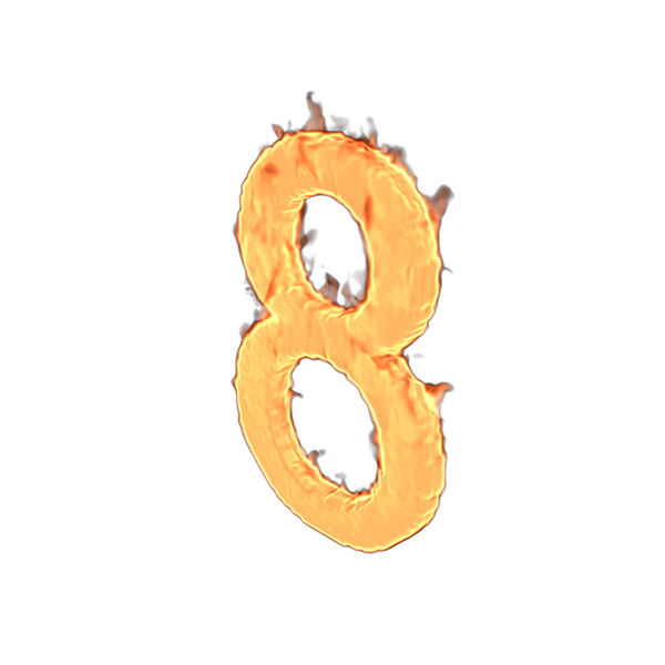 Fire Number Eight PNG & PSD Images