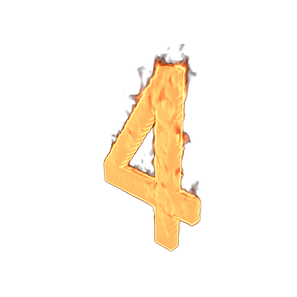 Fire Number Four PNG & PSD Images