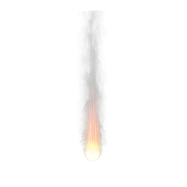 Fire with Smoke (Meteorit Fire) PNG & PSD Images