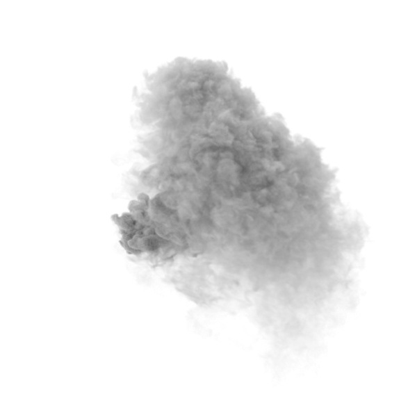 Detector: Fire with Wind Smoke Only PNG & PSD Images