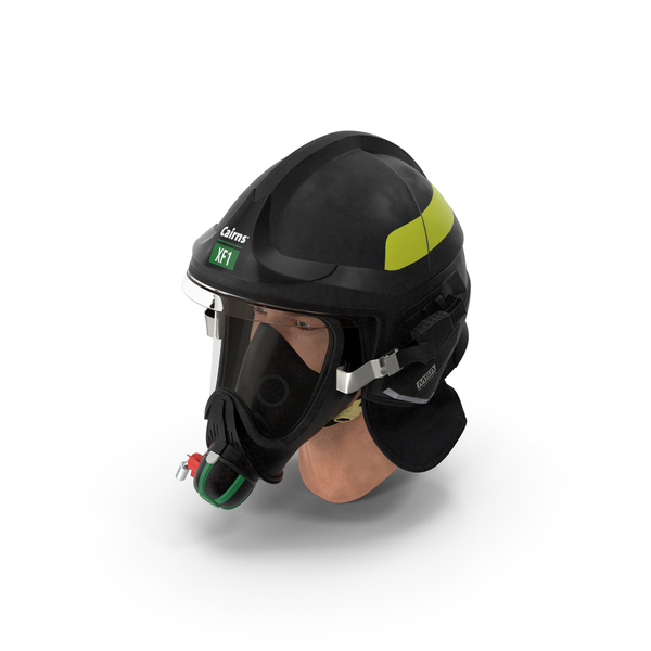 Firefighter Head Cairns XF1 Fire Helmet PNG & PSD Images