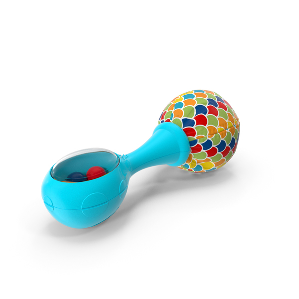 Toys: Fisher Price Blue Baby Rattle PNG & PSD Images