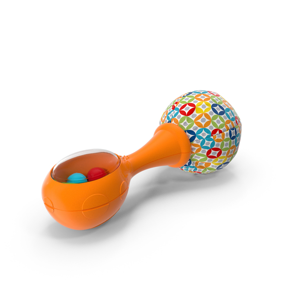 Fisher Price Orange Baby Rattle PNG & PSD Images