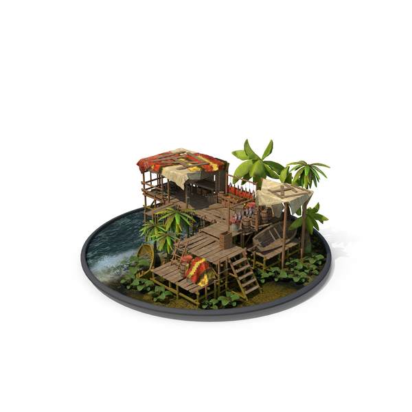 Fantasy: Fishing House PNG & PSD Images