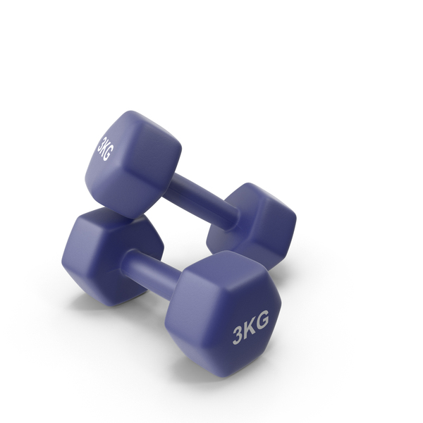 Dumbbell: Fitness Dumbbells 3kg PNG & PSD Images